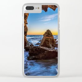 Caves Sunset Photo Clear iPhone Case