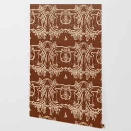 Chocolate Asheville Stags a Leaping Wallpaper