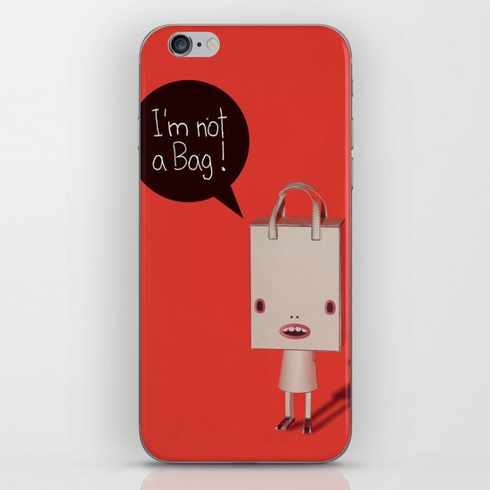 I'm not a bag! iPhone & iPod Skin