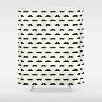 moustache Shower Curtains featuring *Moustache* by Mr and Mrs Quirynen