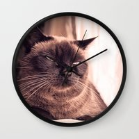 cookie Wall Clocks featuring Cookie by Rachel's Pet Portraits