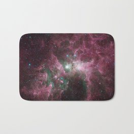 Abstract Purple Space Image Bath Mat