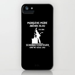 Chimney sweep Chimney sweep gift food sweeper iPhone Case