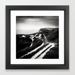 coastal path Framed Art Print