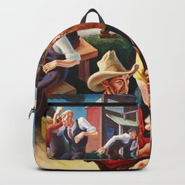 Classical Masterpiece 'Arts of the West' by Thomas Hart Benton Backpack