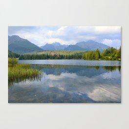 Strbske Pleso in High Tatras mountains Canvas Print