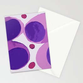 Blood cells inspired illustration Stationery Cards