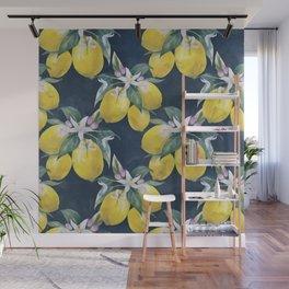 Lemons pattern Wall Mural