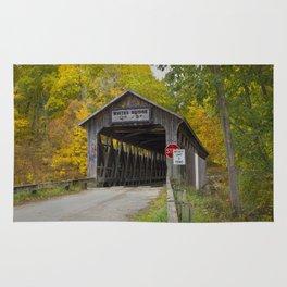 White's Covered Bridge in Fall Rug