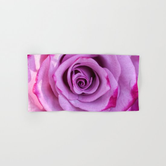 Heart of a rose I - Pink and purple rose Hand & Bath Towel