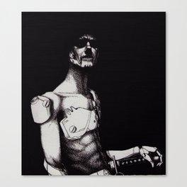 cyborg samurai Canvas Print