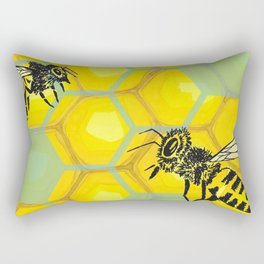 None of Your Beeswax Rectangular Pillow