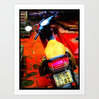 moto Art Prints featuring Moto by Loady