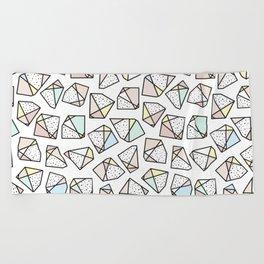 Polygonal stones and gemstones Beach Towel