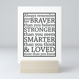 Always Remember Mini Art Print