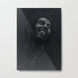 Tuff Gong Marley Text Art Metal Print