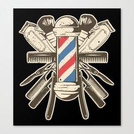 Barber Accessories | Beard Hairdresser Canvas Print