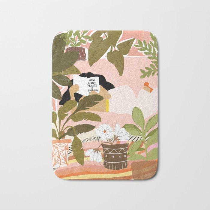 How Many Plants Is Enough Plants? Bath Mat