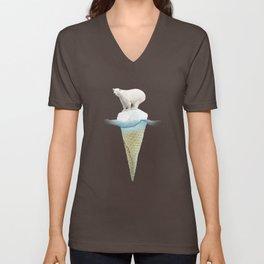 Polar ice cream cap Unisex V-Neck