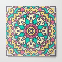 Abstract Mandala Flower Decoration 17 Metal Print