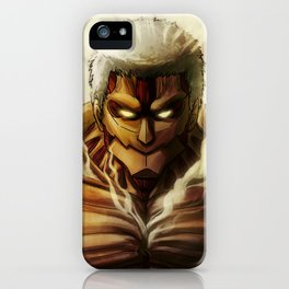 Armored Titan artwork iPhone Case