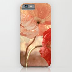 Poppies in Red, White & Peach Slim Case iPhone 6