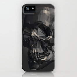 Skull in Low Poly Style iPhone Case