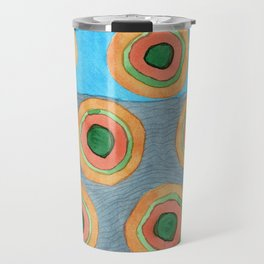 Circles in Front of a Beach Travel Mug