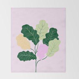 fiddle leaf fig Throw Blanket