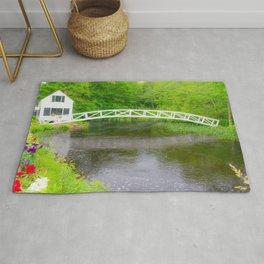 New England Arched Bridge Print Rug