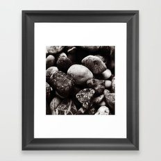 Sea Stones Framed Art Print