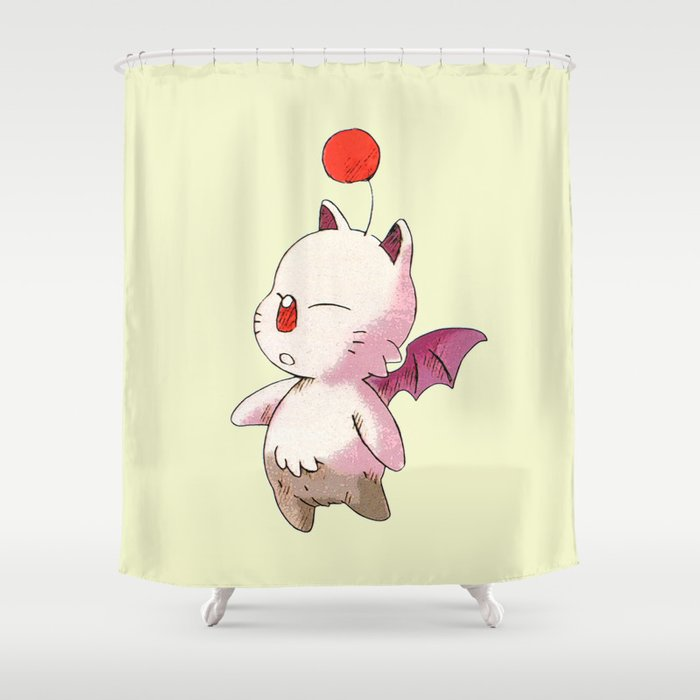 FINAL FANTASY CUTE MOGURI Shower Curtain By Marcomellark