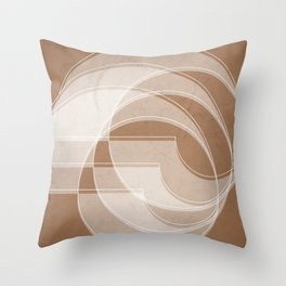 Spacial Orbiting Spiral in Cinnamon Throw Pillow