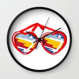 California Girl Sunglasses Wall Clock