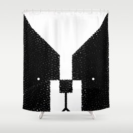 Boston Terrier to the Face! Shower Curtain