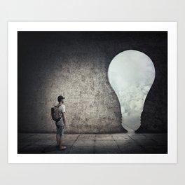 bulb doorway exit Art Print