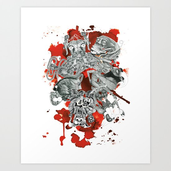 The seven deadly sins Art Print