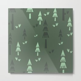 Green Forest Trees Metal Print