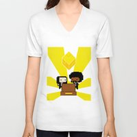 fez V-neck T-shirts featuring Pulp Fez by Ihazart