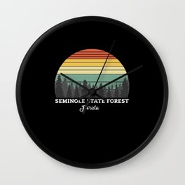 Seminole State Forest Florida Wall Clock