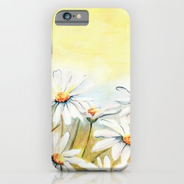 Daisies Watercolor iPhone Case