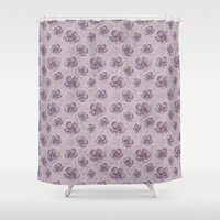 magnolia Shower Curtains featuring Magnolia by Vickn