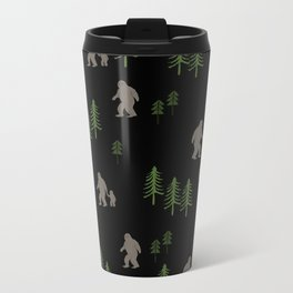 Sasquatch forest woodland mythic animal nature pattern cute kids design forest Metal Travel Mug