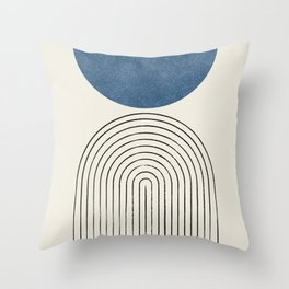 Arch Balance Blue Throw Pillow