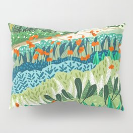 Solo Walk #illustration #nature Pillow Sham