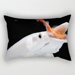 Platinum Alligator Gar Pike Rectangular Pillow