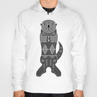 otters Hoodies featuring Sea Otter by Hinterlund