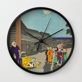 Thirty-six Amusing Views of Famous Places in Tokyo - Kanda Myojin Shrine - Shōsai Ikkei Wall Clock