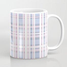 The checkered pattern . Scottish . blue , pink , white . Coffee Mug