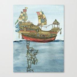 Pirate Ship Print Canvas Print
